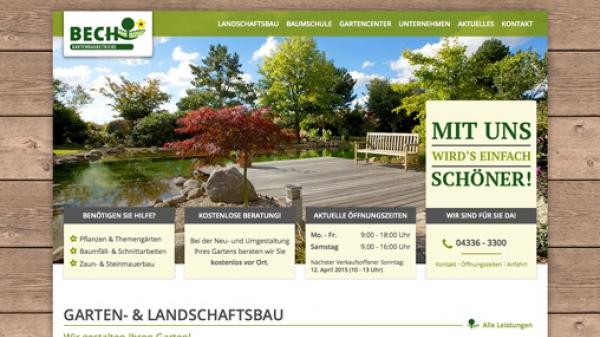Gartenbaubetriebe  Modernes Webdesign mit Contao: Bech Gartenbaubetriebe