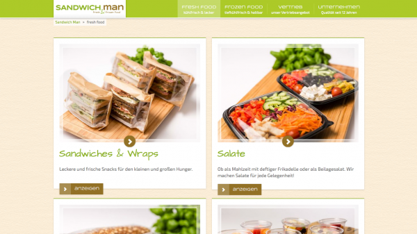 "Screenshot der ""Sandwich Man""-Webseite"