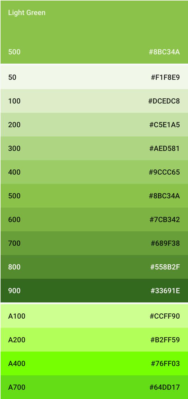 Green Farben der material design style farben typographie und bilder