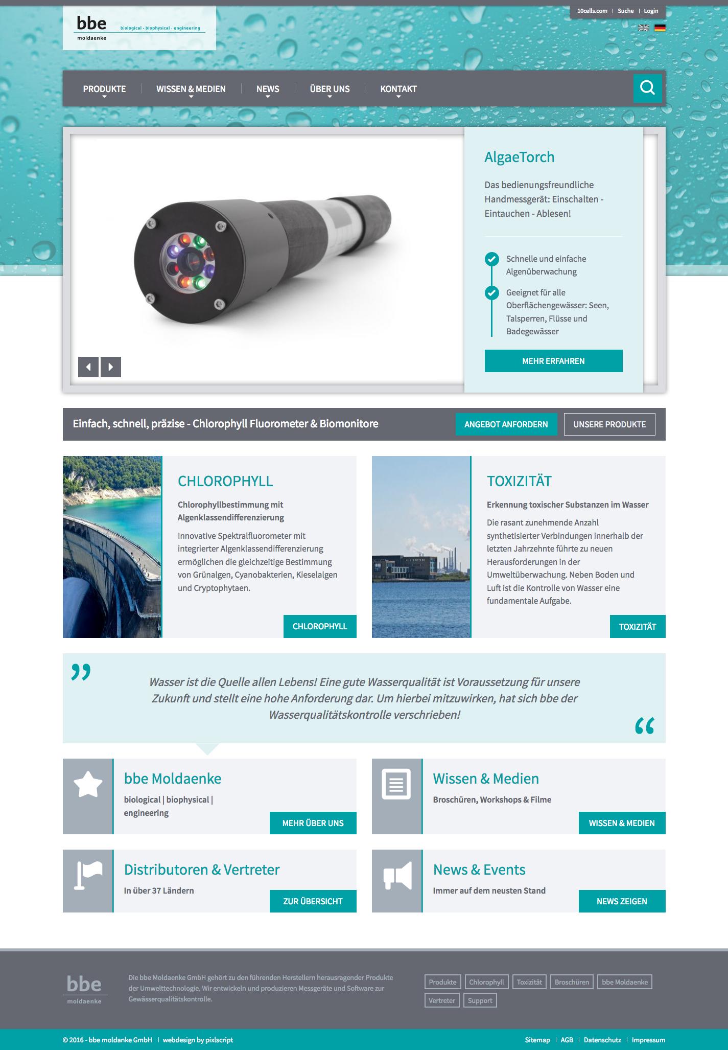 Internationaler Webseiten Relaunch Bbe Moldaenke Gmbh